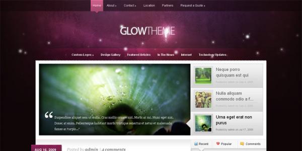 Премиум тема WordPress от ElegantThemes: Glow v2.2