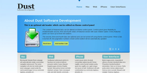 Премиум шаблон WordPress от GabfireThemes: Dust CMS