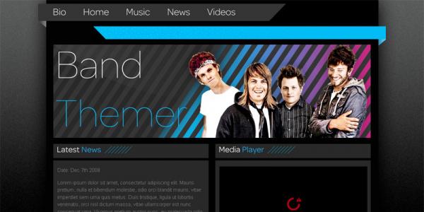 Премиум тема WordPress от BandThemer: Stripes