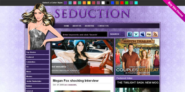 Премиум шаблон WordPress от GorillaThemes: Seduction