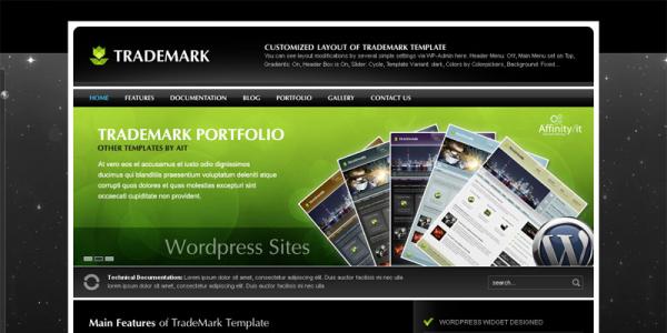 Премиум шаблон WordPress от ThemeForest: Trademark