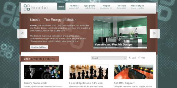 Премиум тема WordPress от RocketTheme: Kinetic