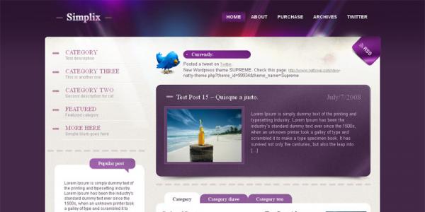 Премиум шаблон для WordPress от NattyWP: Simplix