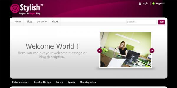 Тема WordPress от ThemeForest: Stylish