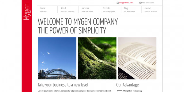 Тема для WordPress от ThemeForest: Mygen