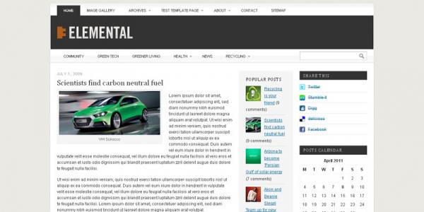 Премиум тема WordPress от ProThemeDesign: Elemental