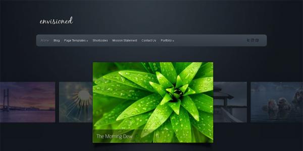 Тема портфолио на WordPress от ElegantThemes: Envisioned