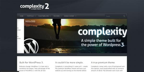 Бизнес портфолио шаблон WordPress от ThemeForest: Complexity