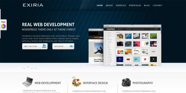 Премиум шаблон WordPress от ThemeForest: Exiria