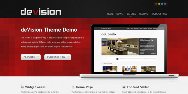 Премиум тема WordPress от ThemeShift: deVision