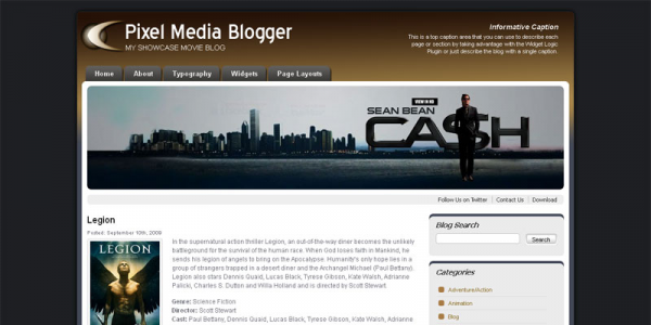 Шаблон WordPress от PixelThemeStudio: Pixel Media Blogger