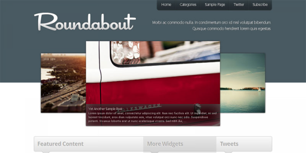 Бизнес шаблон WordPress от Press75: Roundabout
