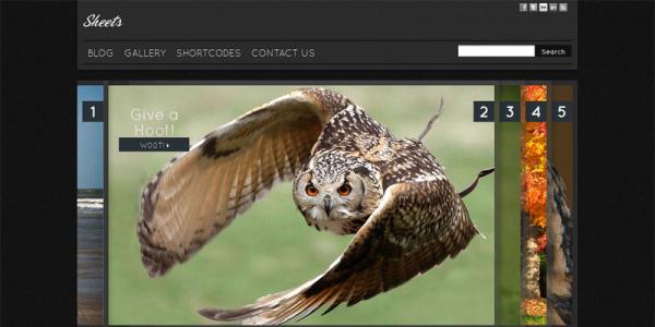 Премиум тема WordPress от ThemeForest: Sheets