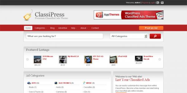 Премиум тема для WordPress от AppThemes: ClassiPress v3.0.2