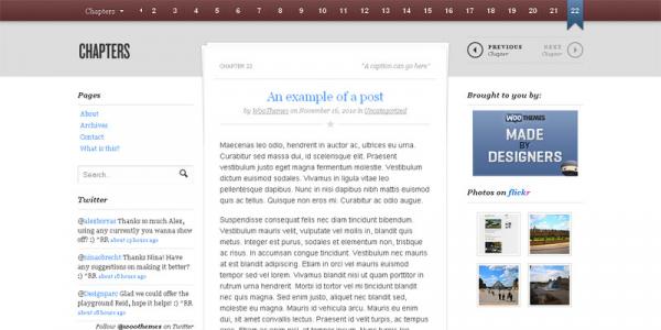 Книжный премиум шаблон WordPress от WooThemes: Chapters