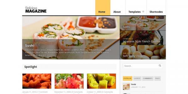 Журнальная премиум тема WordPress от WooThemes: Delicious Magazine