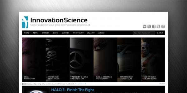 Тема для WordPress от ThemeForest: Innovation Science