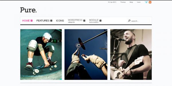 Премиум шаблон WordPress от YOOtheme: Pure