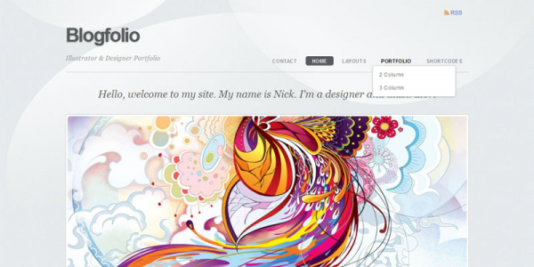Тема для портфолио на WordPress от Themify: Blogfolio