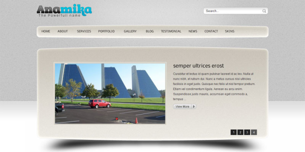 Тема для бизнес сайта WordPress от ThemeForest: Anamika Corporate