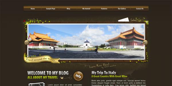 Премиум тема для WordPress от ThemeForest: World Traveler