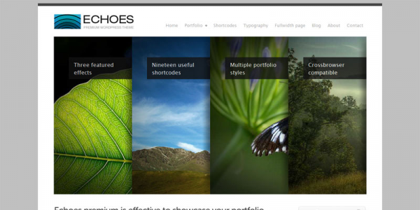 Premium WordPress тема от ThemeForest: Echoes