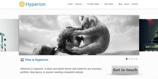 Premium WordPress тема от ThemeForest: Hyperion