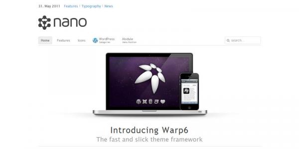 Универсальная тема WordPress от YOOtheme: Nano