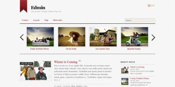 Премиум тема на WordPress от Themify: Edmin