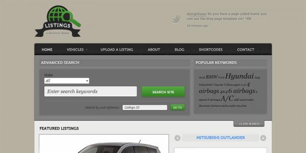 Премиум тема WordPress от WooThemes: Listings