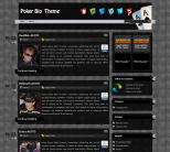 Покер шаблон WordPress от Gambling Themes: Poker Bio