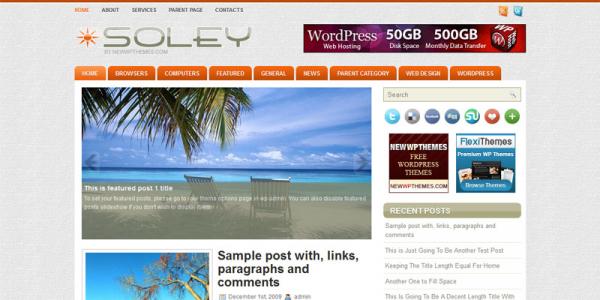 Премиум новостной шаблон WordPress от NewWpThemes: Soley
