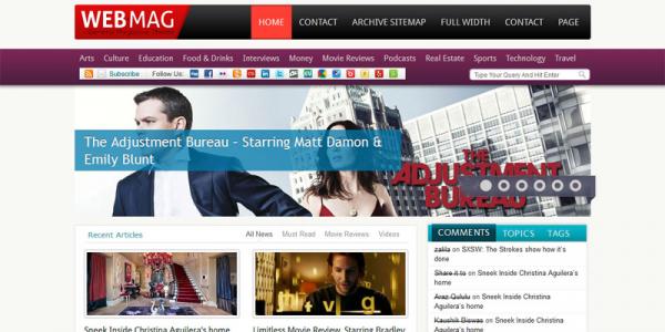 Премиум шаблон WebMag – Magazine3 WordPress