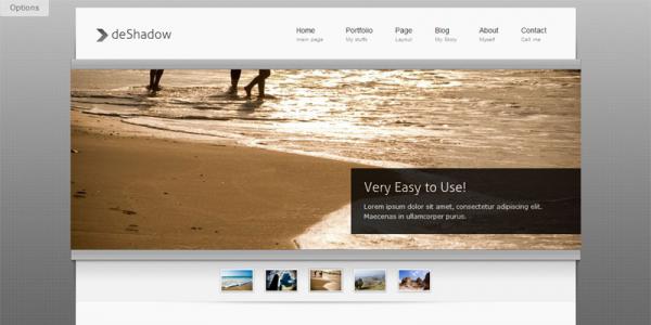 Портфолио шаблон WordPress от ThemeForest: deShadow