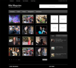 Журнальный шаблон WordPress от Templatic: MiniMagazine Dark