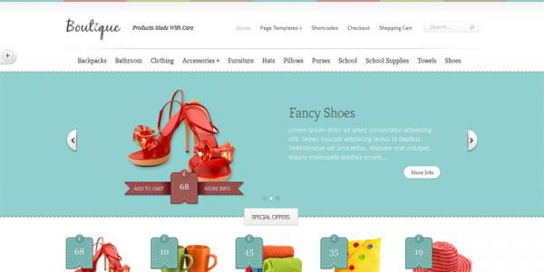 Тема для Интернет-магазинов WordPress от ElegantThemes: Boutique