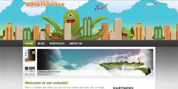 Премиум тема WordPress от Wobzy: MonsterVille