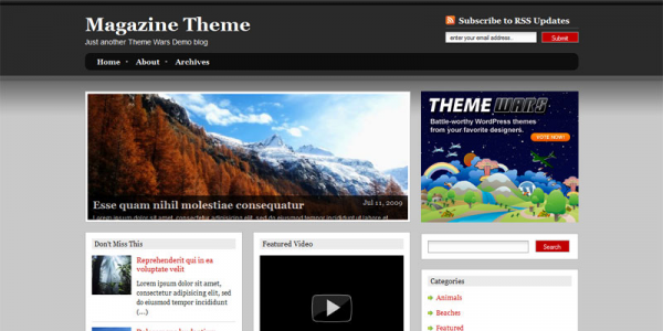 Премиум тема WordPress от ThemeWars: Magazine