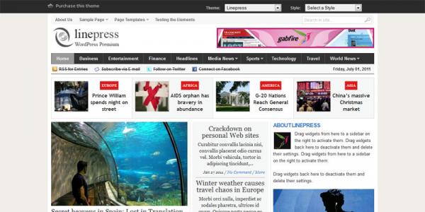 Премиум новостная тема WordPress от GabfireThemes: Linepress
