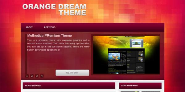 Портфолио тема WordPress от Wobzy: Orange Dream