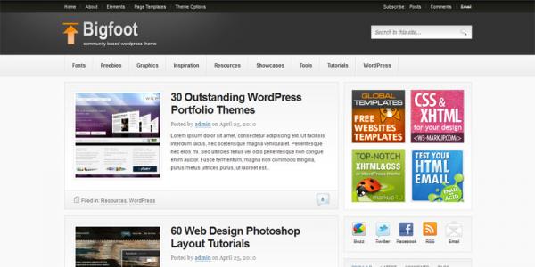 ThemeJunkie шаблон блога WordPress: Bigfoot