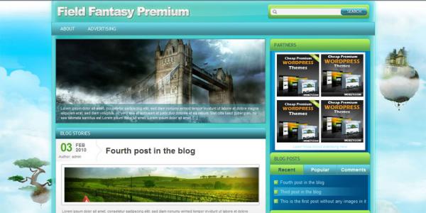 Премиум тема WordPress от Wobzy: Field Fantasy
