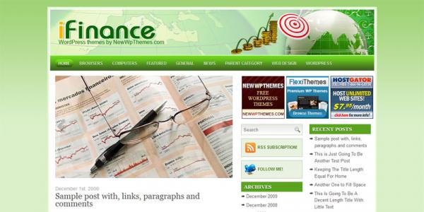Премиум бизнес шаблон WordPress от NewWpThemes: iFinance