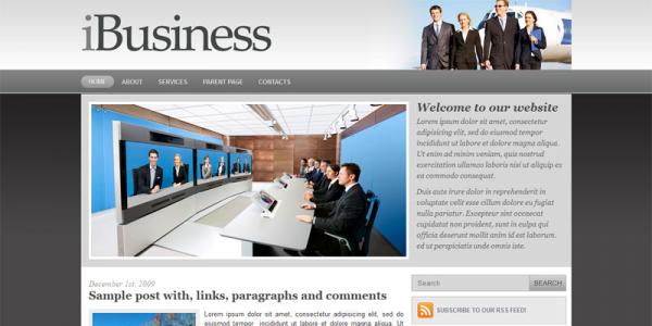 Бизнес тема для WordPress от NewWpThemes: iBusiness