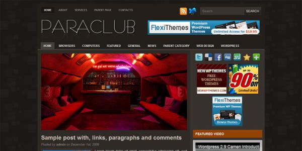 Клубная тема WordPress от NewWpThemes: Paraclub