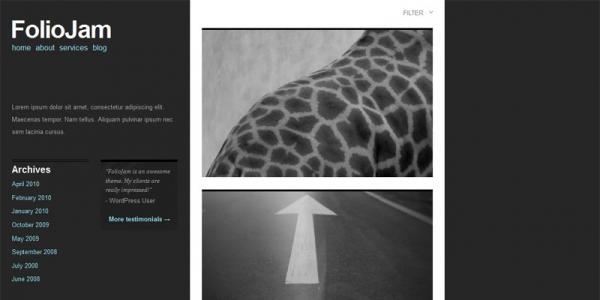 Премиум тема WordPress от ThemeJam: FolioJam