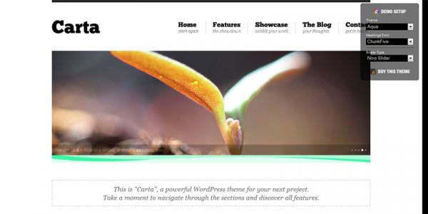 Минимализм в шаблоне WordPress от Themeforest: Carta