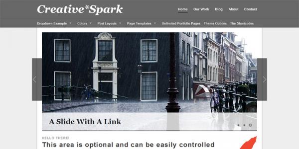 Стильный портфолио шаблон на WordPress от Themeforest: Creative Spark