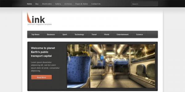 Премиум новостной шаблон WordPress от Themeforest: Link