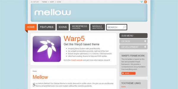Премиум тема WordPress от YooTheme: Mellow